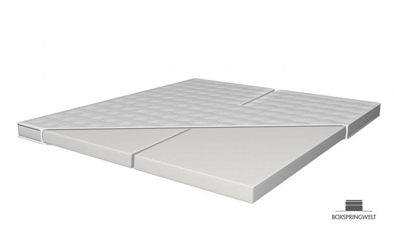 Splittopper aus Kaltschaum HR 45 200 x 200 cm für verstellbare Doppelbetten